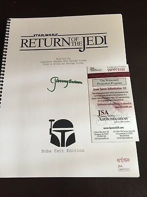 "Star Wars ""Return Of The Jedi "" Autographed Movie Script"