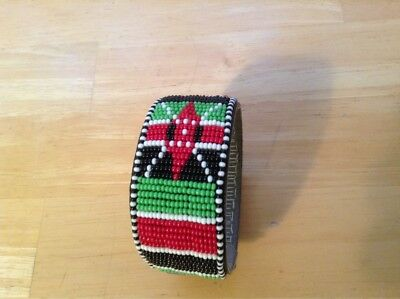African-Arena Maasai Masai Beaded Handmade  Leather Jewelry Bracelet AA26
