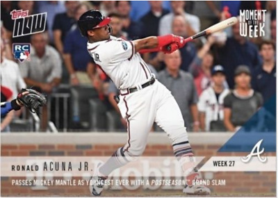 2018 Topps NOW MLB MOW-27 Ronald Acuna Jr RC Braves (Moment of the Week 27)