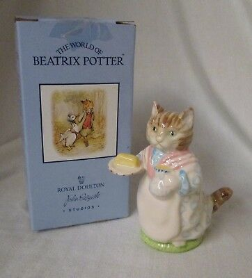 1989 Royal Doulton Beswick Beatrix Potter Mrs. Ribby (kitty cat) figurine w/ box