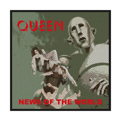 QUEEN News Of The World Woven Patch Sew On Official Licensed Band Merch New