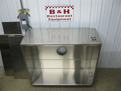 """CaptiveAire 60"""" x 48"""" Kitchen Stainless Condensate Exhaust Hood 4824 VHB"""