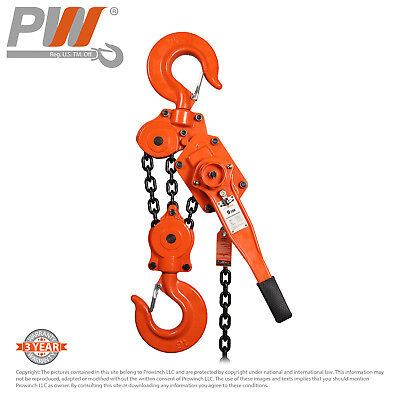 ProWinch Lever Chain Hoist 9 ton 3 Falls 5 ft G80 Black Tempered Chain