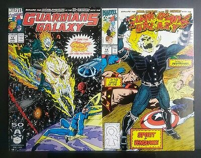 GUARDIANS of the GALAXY #13 & #14 1st App. of COSMIC Ghost Rider 1991 Marvel NM-
