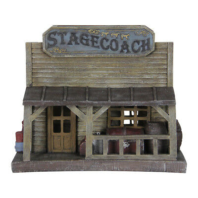 Miniature Dollhouse FAIRY GARDEN - Solar Stage Coach House - Accessories