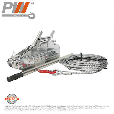 ProWinch Lever Wire Rope Puller Hoist 3520 lbs. 65 ft. Wire Rope
