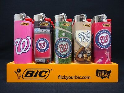 8 Bic Lighters Washington Nationals MLB Baseball Team Regular Disposable Lighter