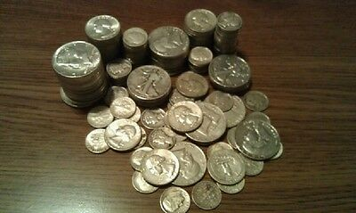16 Ounces 1 POUND 90% Silver Coins Half Dollars Quarters Dime