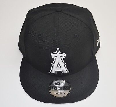 Genuine New Era 9Fifty Los Angeles Angels BK WH Adjustable Snapback MLB Cap 36716ac41dc4