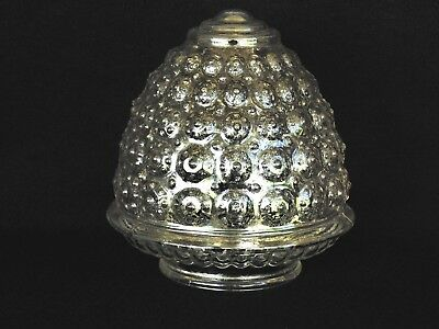 """3-1/4"""" Fitter Retro Clear Prismatic Acorn Hobnail Glass Light Ceiling Shade B2"""