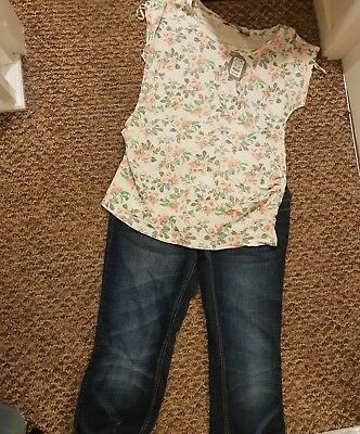 Size 14 Maternity Outfit Jeans and Top