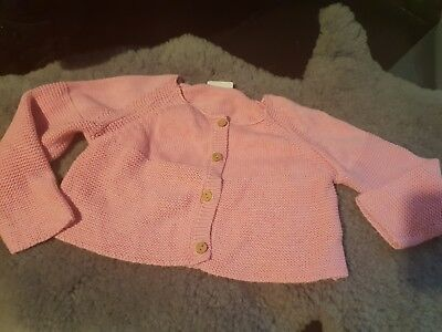 girls 12-18 months knitted pink cardigan jumper coat bolero party clothes next