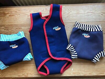 Waterbabies Swim Jacket and 2 x Swim Nappies Various sizes Bundle