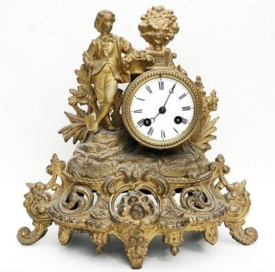 Antique S. Marti French Medaille de Bronze Mantel Clock