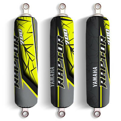 Yellow Grey Yamaha Shock Covers Raptor YFM 250 350 660R *Special Edition* (Set3)