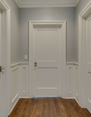 online store 491f0 87583 2 PANEL INTERIOR Primed White Solid Core Shaker Mission Style Doors