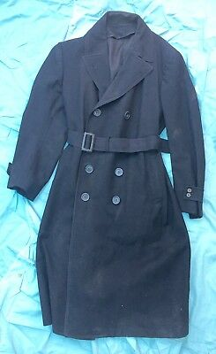 Ww2 Us Navy Overcoat Double Breasted Original Wwii