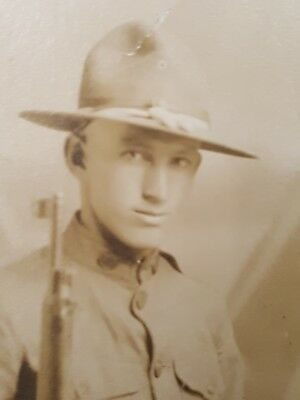 Vintage Military Soldier Photo