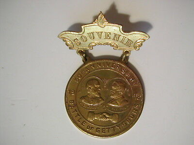 1913 Souvenir badge – 50th Anniversary of Battle of Gettysburg