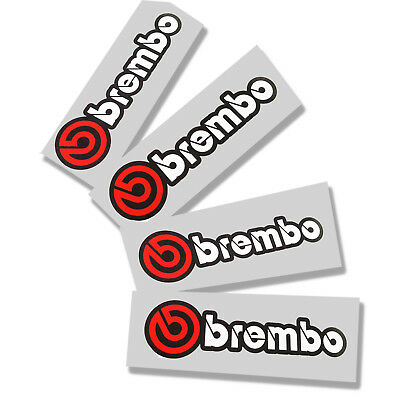 Brembo Red white black motorcycle decals custom graphics x 4 VERY SMALL