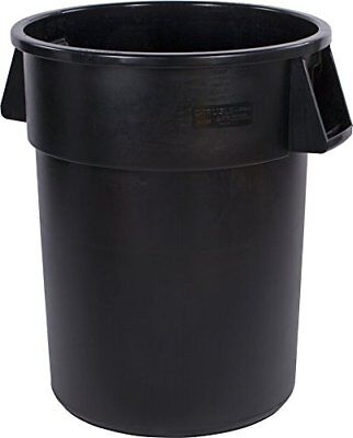 Carlisle 34105503 Bronco Round Waste Container Only, 55 Gallon, Black TAXFREE