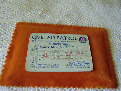 Civil Air Patrol Officer Identification Card; Illinois Wing; 1943