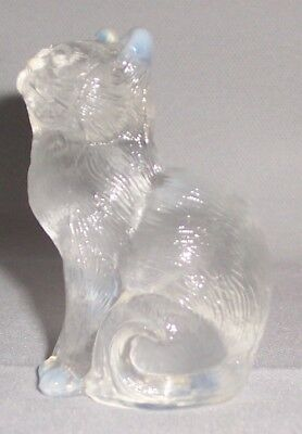 Mosser Crystal Opalescent Glass Cat