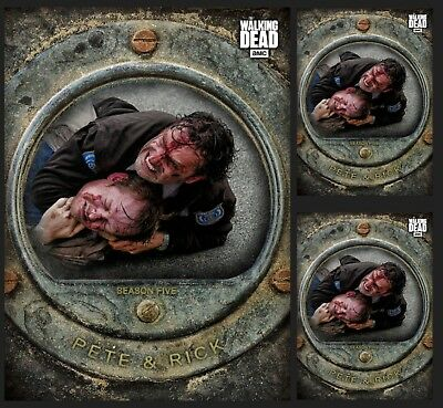3X Pete & Rick-Cost Of Life-Gray-Wave 3-Topps Walking Dead Card Trader