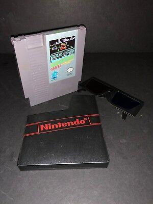 Rad Racer NES Nintendo 1987 Game Cartridge Complete w/ DUST COVER & 3D Glasses