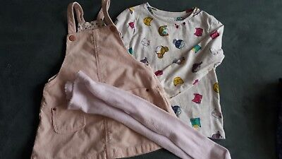 Girls Pinafore Dress Bundle Age 18 To 24 Months Inc Zara