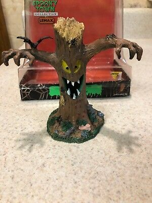 Rare  Lemax Spooky Town Halloween village Creepy Tree Monster Teeth  Retired Min