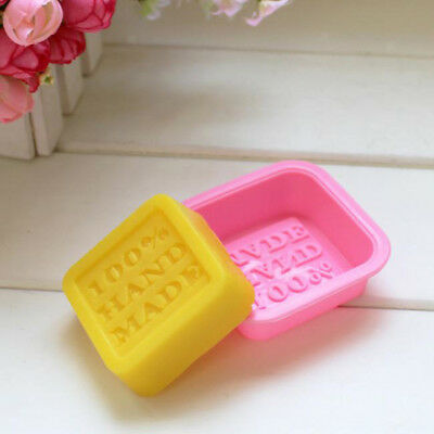 Square Soap Mold Silicone Mould Chocolate Cake Candy Fondant Baking Moulds
