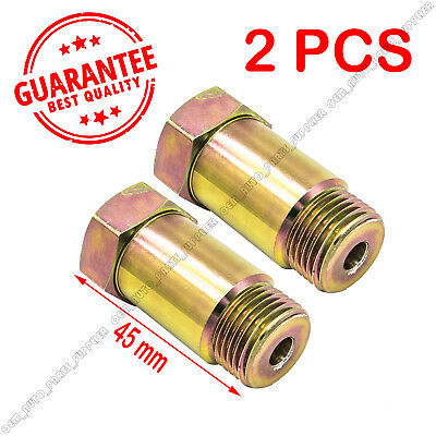2XStraight O2 Oxygen Sensor Extension Spacer extender M18 X 1.5 CEL Fix HHO 45MM