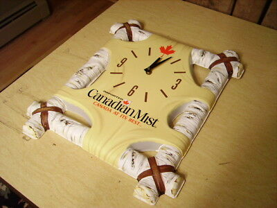 VTG Canadian Mist Imported Whiskey Birtch Tree Wall Clock - New Old Stock