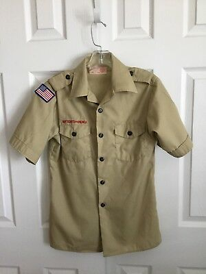 BSA Tan Short Sleeve Official Youth Shirt Size Youth L