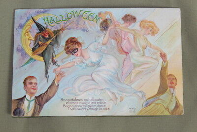 Early 1900's Nash H-12 Embossed Halloween Post Card