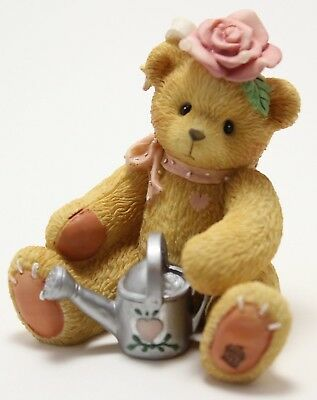 Cherished Teddies Everything's Coming Up Roses Bear Figurine Rose 1996 #202886