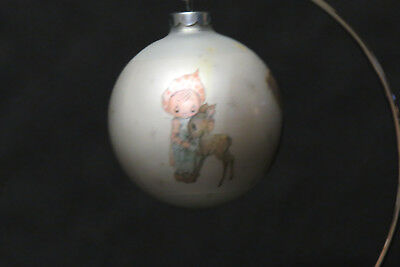 "Vintage 1973 Hallmark "" BETSEY CLARK"" Glass Ball Christmas Ornament"