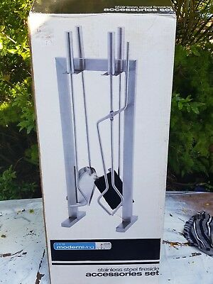 Fireplace Companion Set with stand (4-Pieces) utensils