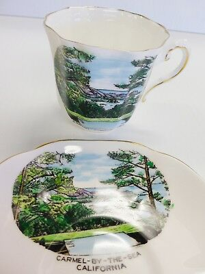 ROYAL GRAFTON England CARMEL BY THE SEA Cup & Saucer Demitasse Porcelain