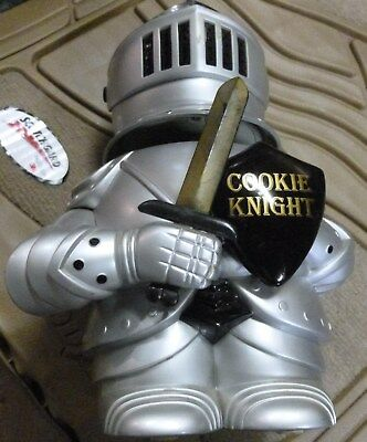 """Usa Made Talking Silver Knight Cookie Jar """"""""cookie Knight""""""""~10.5X7~Pre~Owned"""