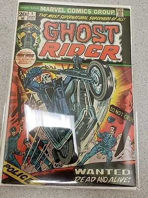 Ghost Rider #1 Vf To Vf+  1St Solo Series 1973 Marvel Comics Cgc It