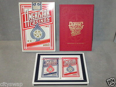 Sealed Ameristar Casinos Two Decks Playing Cards Annual Report Limited 2003 Rare