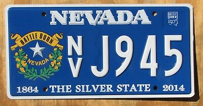 NEVADA BATTLE BORN license plate   2014  J945