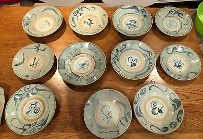 Qing dynasty (1644-1910)- kitchen plates - set of 11