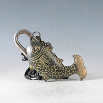 Exquisite Copper Handmade Fish(Every Year More Than) Padlock