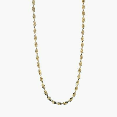 """goodbyebabylon / sterling silver twisted herringbone chain / necklace 20"""" (11g)"""