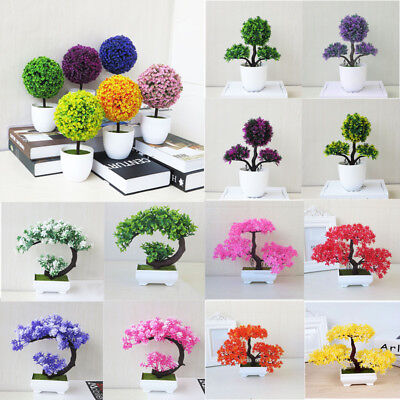 Fake Artificial Bonsai Flower Tree Plant Garden DIY Home Floral Decor