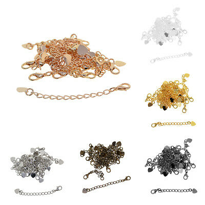 20pcs Necklace Chain Extender Extension Chain Lobster Clasps Jewelry Finding