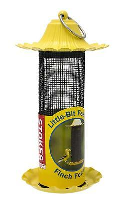 Stokes Select Little-Bit Feeders Finch Bird Feeder with Metal Roof Yellow .6 ...